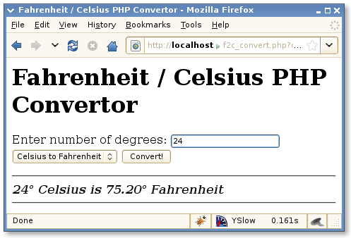 Fahrenheit to Celcius app Screenshot